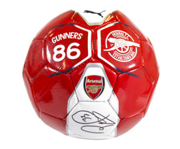Petr Cech Signed Arsenal FC Fan Puma Mini Ball