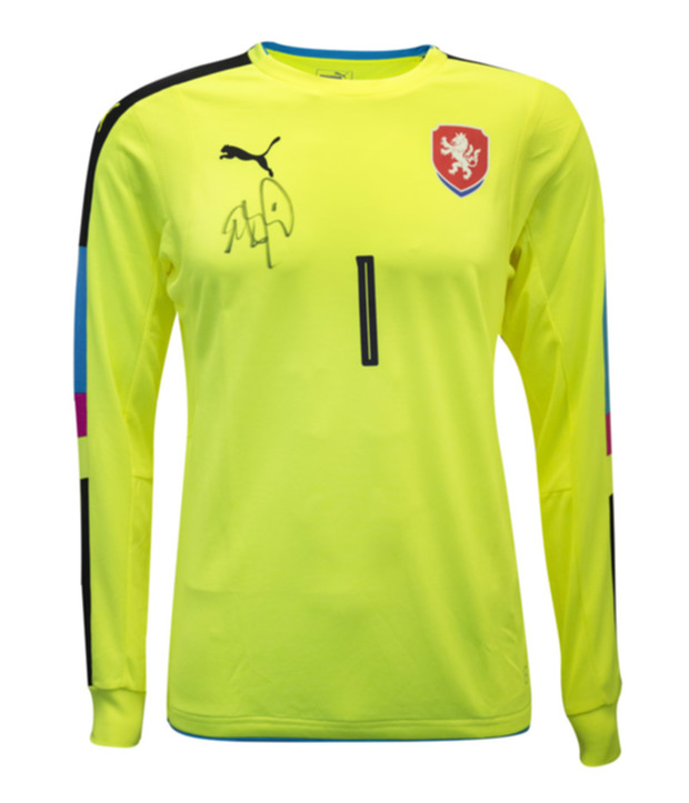 Petr Cech Signed Czech Republic Goalkeeper Away Jersey