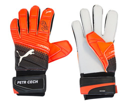 Petr Cech Signed Puma evoPOWER Grip 2.3 AQUA Goalkeeper Gloves