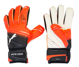 Petr Cech Signed Puma One Grip 17.1 Goalkeeper Gloves